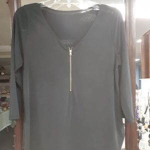Tops - Gray top with zipper
